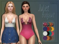 Juliet Bodysuit by Trillyke at TSR • Sims 4 Updates