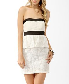 Lace Peplum Dress | FOREVER21 - 2011408241