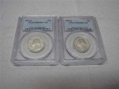 PCGS PR69DCAM Washington Quarters 1987-S, 1993-S - EBay price $24.99 (sale price) + free shipping