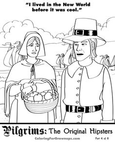 pilgrims the original hipsters part 4 of 6 download this page print it color it mail it back share it on facebook click here to see all avai - Hipster Coloring Book