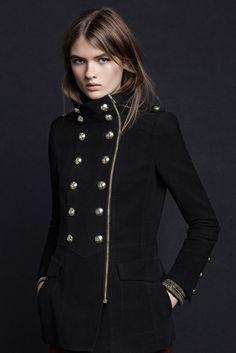 Manteau femme hiver style officier