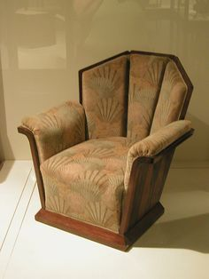 Art Deco chair ...love this wooden frame design but with new fabric