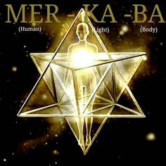 The Merkaba is a counter-rotating field of light generated from the spinning of specific geometric forms that simultaneously affects one's spirit and body. Geometry Art, Sacred Geometry, Sacred Symbols, Divine Light, Mystique, Flower Of Life, Magick, Cosmic, Reiki