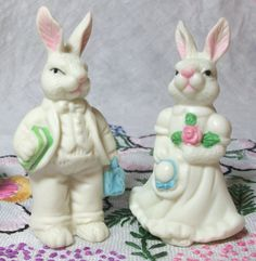 Easter bunny cake toppers figures. $7.50