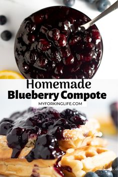 Blueberry Recipes, Fruit Recipes, Sweet Recipes, Dessert Recipes, Cooking Recipes, Blueberry Compote, Fruit Compote, Breakfast Items, Breakfast Dishes
