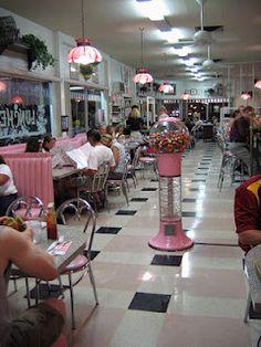 Pink diner #Vintage #Diner #50s