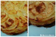gâteau de pommes de terre d'Anna au crottin de chèvre -