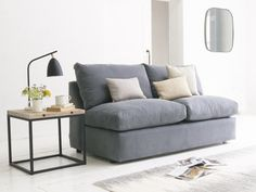 Chatnap sofa bed in our Gun Metal brushed cotton