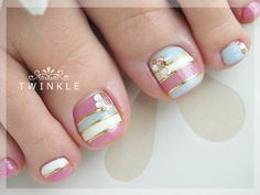 See more about toe nail art, toe nails and striped nails. Pedicure Nail Art, Pedicure Designs, Toe Nail Designs, Nail Polish Designs, Toe Nail Art, Pink Pedicure, Fabulous Nails, Gorgeous Nails, Pretty Nails