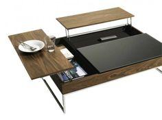 table basse a plateaux bois