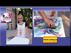 Cómo usar tiza pastel para composición arte abstracto - YouTube