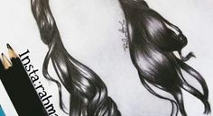 رسمة شعر ،، اقلام رصاص 2B,7B,8B - رحمة أمير