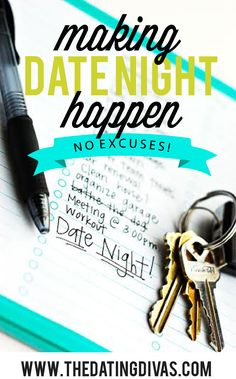 Make Date Night a priority in your marriage! A TON of tips, tricks, and RESOURCES to make it happen! www.TheDatingDivas.com