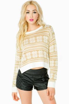GOLD NORDIC CROPPED SWEATER