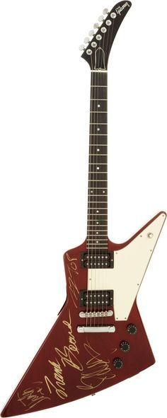 A 1989 burgundy finish Gibson Explorer electric guitar, Serial Number - Available at 2012 July 24 Entertainment &. Music Guitar, Cool Guitar, Playing Guitar, Acoustic Guitar, Rare Guitars, Gibson Guitars, Vintage Guitars, Zz Top Band, Gibson Explorer