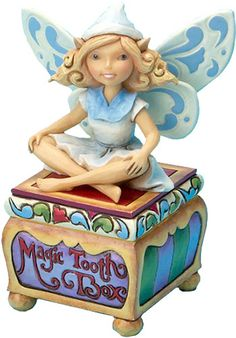 A special tooth fairy box to hold a treasured tooth. http://www.efairies.com/store/pc/Jim-Shore-Fairy-Figurines--I-ll-Trade-Ya-Tooth-Fairy-Box-23p4358.htm Price $25.95