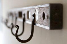 Vintage Industrial Level Hooks 4 Ft by AdaptationShop on Etsy