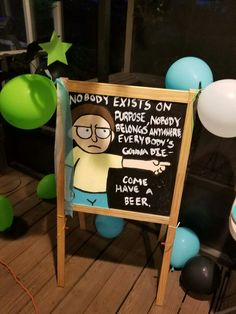 Rick and Morty birthday party
