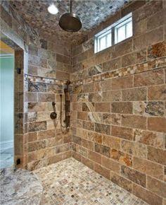 Pretty tiled shower.