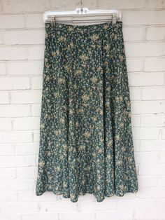 296be71f6b LAURA ASHLEY 90s Vintage Country Floral Long Button Boho Hippie Skirt US  Size 10 #LauraAshley