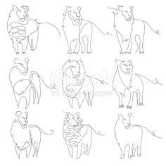 Resultado de imagen de one line lion