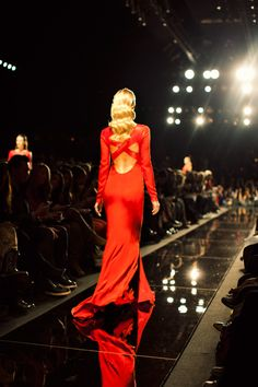563ee281112 Love the crisis-cross opened back of this red dress! Miranda Waldron