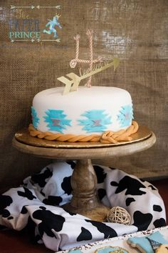 Cake from a Rustic Cowboys & Indians Birthday Party via Kara's Party Ideas | KarasPartyIdeas.com (23)
