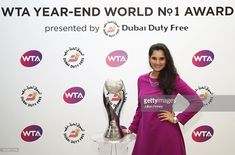 Year-End World No.1 Doubles player Sania Mirza of India poses during day 3 of the BNP Paribas WTA Finals Singapore at Singapore Sports Hub on October 25, 2016 in Singapore.