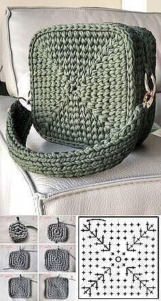 Crochet Bag Tutorials, Crochet Crafts, Crochet Projects, Diy Crochet Bag, Diy Crafts, Crochet Summer, Knit Crochet, Crochet Handbags, Crochet Purses