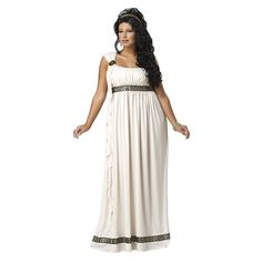 Plus Size Olympic Goddess Costume - Adult Plus, Size: 18-20, Multicolor