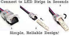 12 Volt Led Light Strips Great Tutorial On Installing Led Light Strips On Bookshelves Under