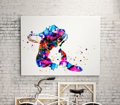 French Bulldog dog Watercolor animal print  - abstract poster - illustration -Digital wall art Print - painting - Home decor by WatercolorMary on Etsy https://www.etsy.com/listing/268495195/french-bulldog-dog-watercolor-animal