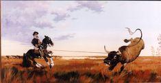 "CM - ""ZAPATIABA EL TORO VIEJO"" Gaucho, Cowboy Art, Western Art, Westerns, Cartoon, Animals, Werewolf, Folklore, Horses"