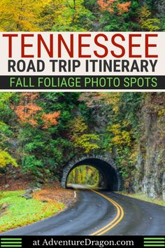 Fall in Tennessee Road Trip Itinerary - the Best Parks, Cities, Streets, & Festivals to See Fall Foliage in Tennessee - Adventure Dragon Nashville Tennessee, Tennessee Vacation, Tennessee Hiking, Visit Tennessee, Tennessee Girls, Pigeon Forge Tennessee, Tennessee Titans, Great Smoky Mountains, Smoky Mountains Tennessee