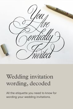 Asking your friends and family to attend your wedding should be easy, right? We've broken down wedding invitation wording traditions and etiquette. Black And White Wedding Invitations, Beautiful Wedding Invitations, Wedding Invitation Wording, Paperless Post, Wedding Save The Dates, Tool Design, Etiquette, Wedding Bells, Personal Style