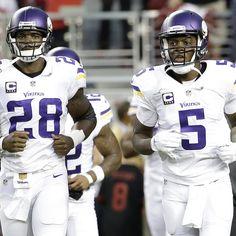 Mens Minnesota Vikings Teddy Bridgewater Purple Tri-Blend Super Soft T-Shirt