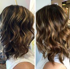 Beautifu Color de pelo para Merdium Cabello ondulado - Balayage peinados para las mujeres
