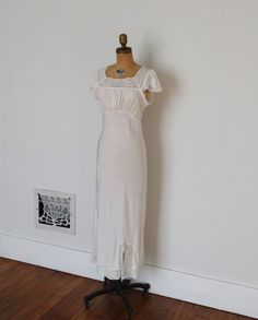 Vintage 1940s Nightgown - 40s Lace Lingerie - The Martha