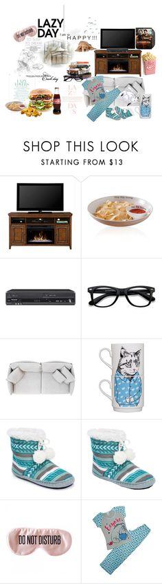 """Tv, pyjamas and slippers :)"" by biskot ❤ liked on Polyvore featuring Neff, Dimplex, Anna Sui, Miya, Mud Pie, Panasonic, Lazy Days, EyeBuyDirect.com, Gentry and Jimbobart"