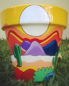 Best 12 Imagen relacionada – Page 412783122088196118 – SkillOfKing. Flower Pot Art, Small Flower Pots, Flower Pot People, Clay Pot People, Painted Plant Pots, Painted Flower Pots, Pot Jardin, Indoor Plant Pots, Desert Art