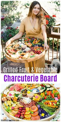 Grilled Fruit Vegetable Charcuterie Board Grilled Fruit Vegetable Charcuterie Board Rodela Carroll rodelac Small Bites and Snacks Grilled Fruit Vegetable Charcuterie Board for summer charcuterie nbsp hellip Cheese board Plateau Charcuterie, Charcuterie Platter, Charcuterie And Cheese Board, Cheese Boards, Party Food Platters, Cheese Platters, Vegetable Appetizers, Meat Appetizers, Cooking Recipes