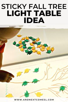 Looking for autumn light table activities? Then try this sticky tree fall light table idea that's perfect for toddlers and preschoolers! #lighttable #lighttableactivities #preschool #fallactivities Table Activities For Toddlers, Sensory Activities For Autism, Autumn Activities For Kids, Crafts For Kids, Teaching Calendar, Autumn Lights, Remembrance Day, Little Learners, Autumn Theme