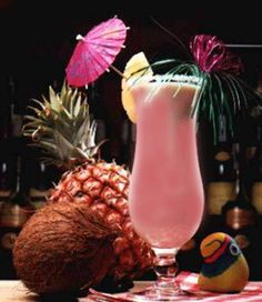 Mamacita1 1/2 oz Coconut Rum 1/2 oz Passoa Liqueur (a red liqueur made from passion fruit and citrus) 1/2 oz Cointreau Guava Syrup (to taste)