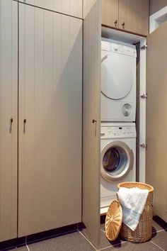 "Exceptional ""laundry room stackable washer and dryer"" info is offered on our site. Read more and you wont be sorry you did. Laundry Closet, Laundry Room Organization, Small Laundry, Laundry Room Design, Küchen Design, Home Design, Interior Design Living Room, Living Room Designs, Small Room Bedroom"