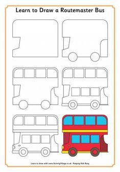 Apprendre à dessiner un bus de Londres
