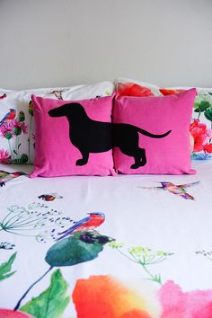 10% OFF Personalized dachshund cushion covers dog pillows