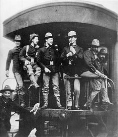 Soldiers on a train at Port Tampa, 1898. From the University of Florida Digital Collections