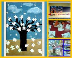 Νηπιαγωγός απο τα Πέντε: ΖΟΥΜ ΖΟΥΜ ΖΟΥΜ...ΟΙ ΜΕΛΙΣΣΕΣ ΠΕΤΟΥΝ... Homemade Christmas Gifts, Puzzle, Education, Blog, Crafts, Decor, Xmas, Winter Time, Preschool Printables