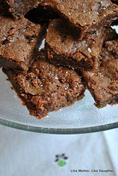 caramel sea salt brownies