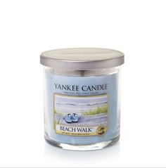 Yankee Candle Small Tumbler - Beach Walk - Refreshing salt water and sea musk warmed with sunny notes of tangerine and orange blossom. www.lambertpaint.com